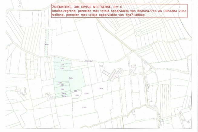 ca. 10,5HA landbouwgrond te koop te Zuienkerke