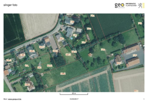 1  stuk grasland te koop gelegen Slingerstraat te Menen