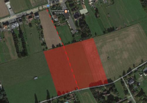 AFFLIGEM (Essene), Oudebaan… ± 4ha landbouwgrond