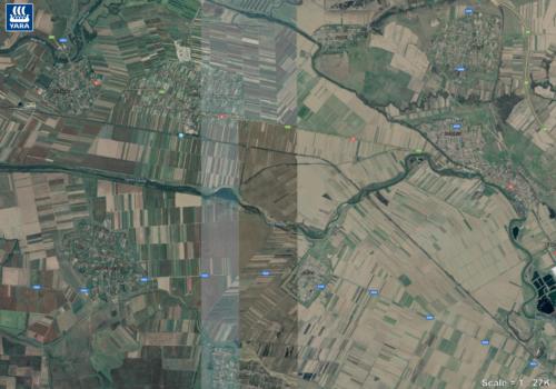 Landbouwgrond in West Roemenië