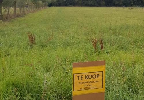 Goedgelegen landbouwgrond in Roosdaal